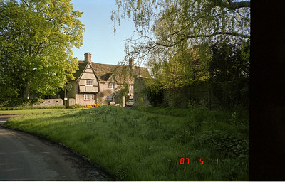 A frontal view of The Old Swan Inn, located in the Cotswald village of Stoford, England.
