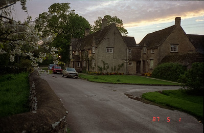 At dusk photo of The Old Swan Inn in Stoford.