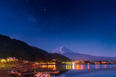 Mount Fuji and Milky Way