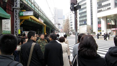 It was too hectic to take pics on the train this morning... Kanda to Yurakucho station