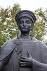 """In the Philosopher's Park, we played """"name that famous man"""" when looking at life-like statues. Here stands Justinian and his Codex."""