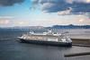The Holland America Lines cruise ship, Volendam in the port of Aomori, northern Japan, Tōhoku region.