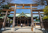 Japanese architecture in Sumida Park, Asakusa, Tokyo, Japan, Asia.