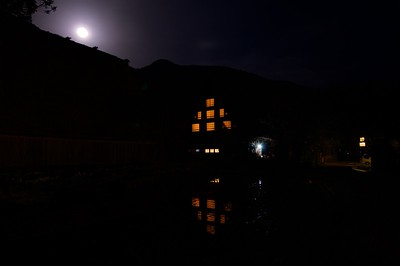 Full moon night at Shirakawago