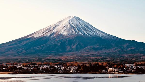 Mt. Fuji  富士山, Lake Kawaguchiko 河口湖