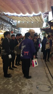 "Before the start of festival, groups were seen going to various shops to wish them ""long lives"""