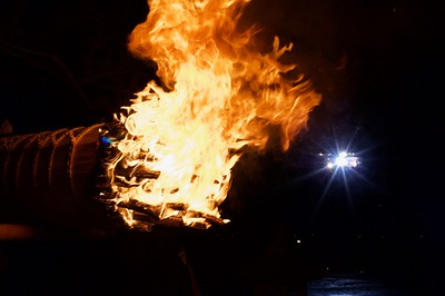 Chinkasai Fire Festival is held every year on New Year's eve at Miyajima
