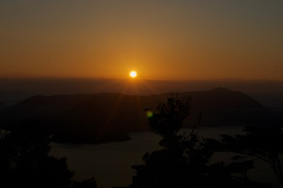 Hatsuhinode (first sunrise on new year day) on Mt Misen