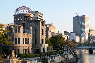 A-bomb dome next to the Motoyasu River