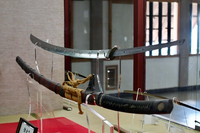 Samurai sword on display