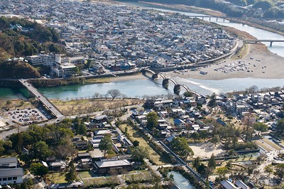 View of Iwakuni town from the castle
