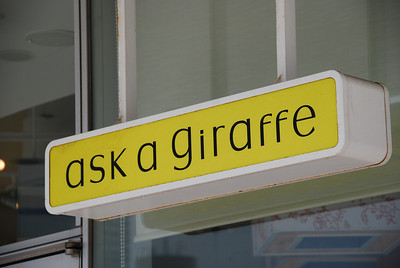 When in doubt, ask a giraffe.