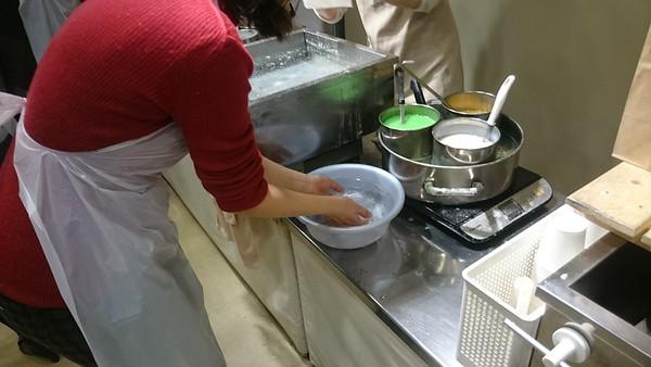 Food samples at Ganso Shokuhin