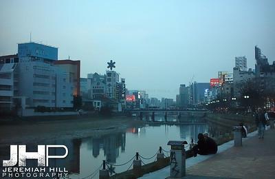 """""""Fukuoka Downtown River #1"""", Fukuoka, Japan, 2006 Print PMJ06-126"""