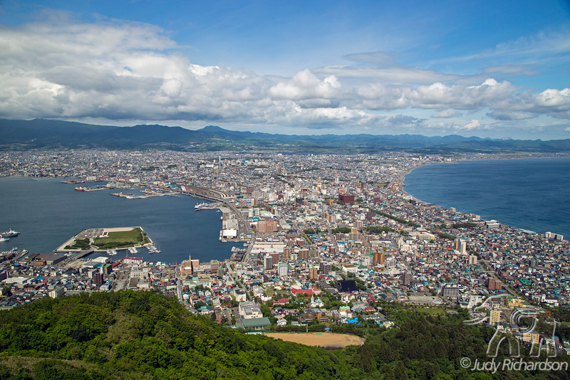 Hakodate from Mt. Hakodate Observation House via Hakodate Ropeway (actually a tram)