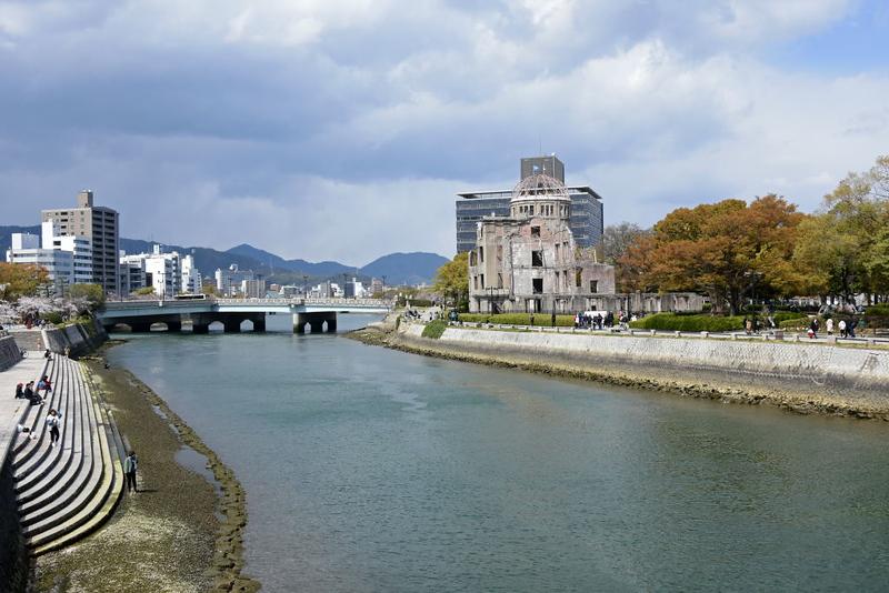 A last look at the Atomic Bomb Dome, Hiroshima, Mon 1 April 2019.