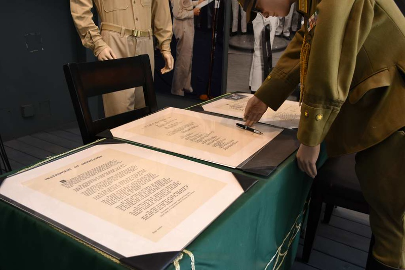 Japanese surrender 1945, Palm Springs Air Museum, California, 2 May 2019 4.