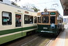 Hiroshima Electric Railway 3903 & 353, Mon 1 April 2019.  Hiroshima has an extensive tram network with six lines and over 270 trams from all over Japan.