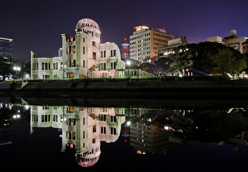 A-bomb dome reflection