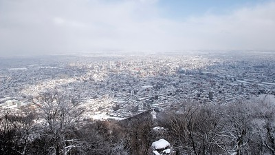 View of Sapporo City from Mount Moiwa 藻岩山