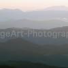 Hazy Mountain Range