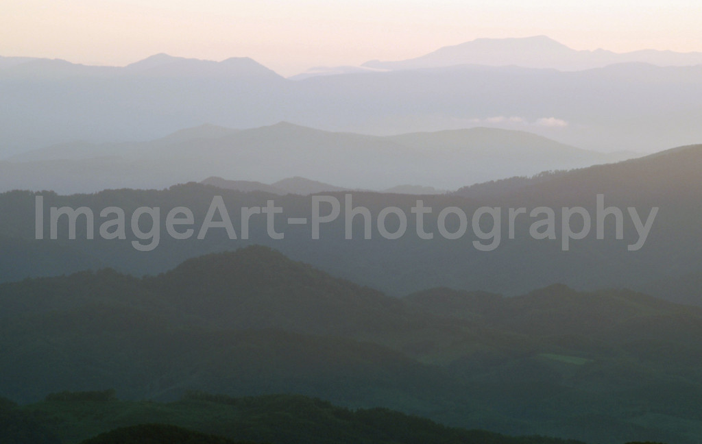 Hazy Mountain Range