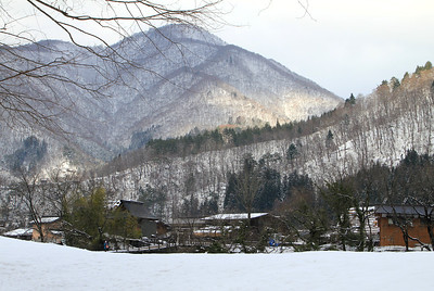 The town of Shirakawa-go.  This is a World Heritage site