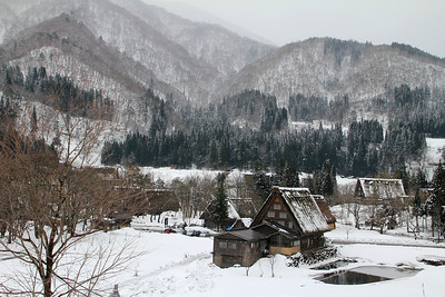 The town of Shirakawa-go.  This is a World Heritage site.  Some of the buildings are part of the museum, but others are people's homes.