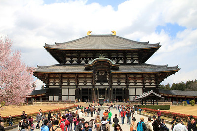 Todaiji Temple in Nara.  This is the world's largest wooden building