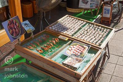 """Sun-dried octopus """"himono"""" and takoyaki"""