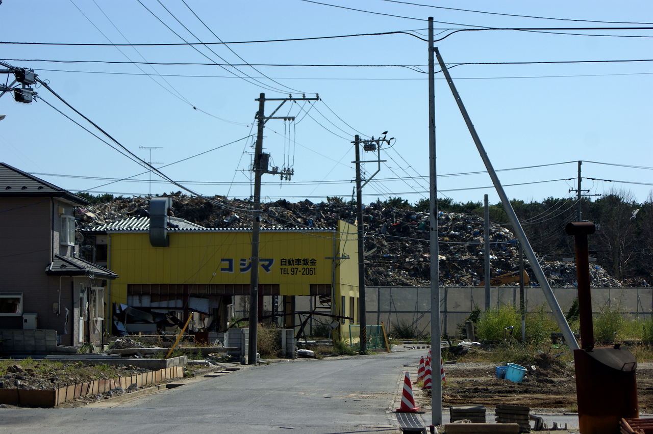 Photo By Bob Bodnar........................Trash Pile,  we are in the area of Ishinomaki Japan.. North of Sendai on the east coast