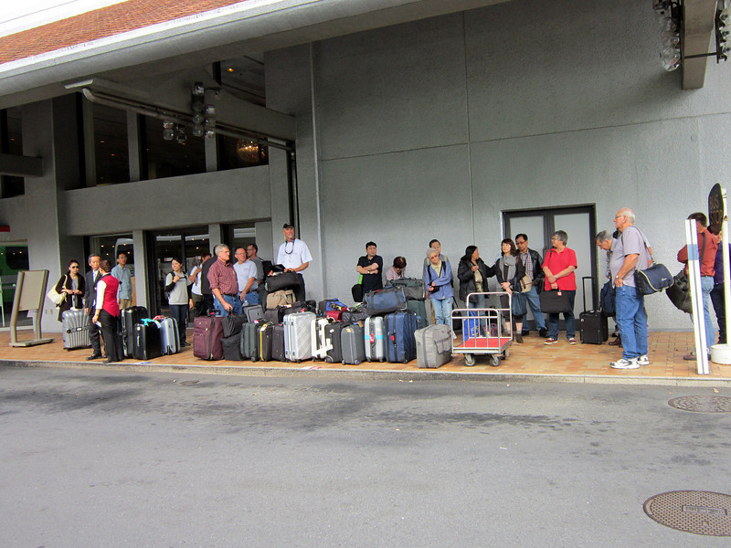 Photo By Bob Bodnar......................We are at the airport,  waiting for the bus to take us to the hotel