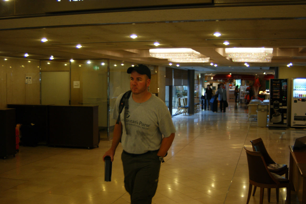 Photo By Bob Bodnar...............................................Joel Corley in Hotel, Japan