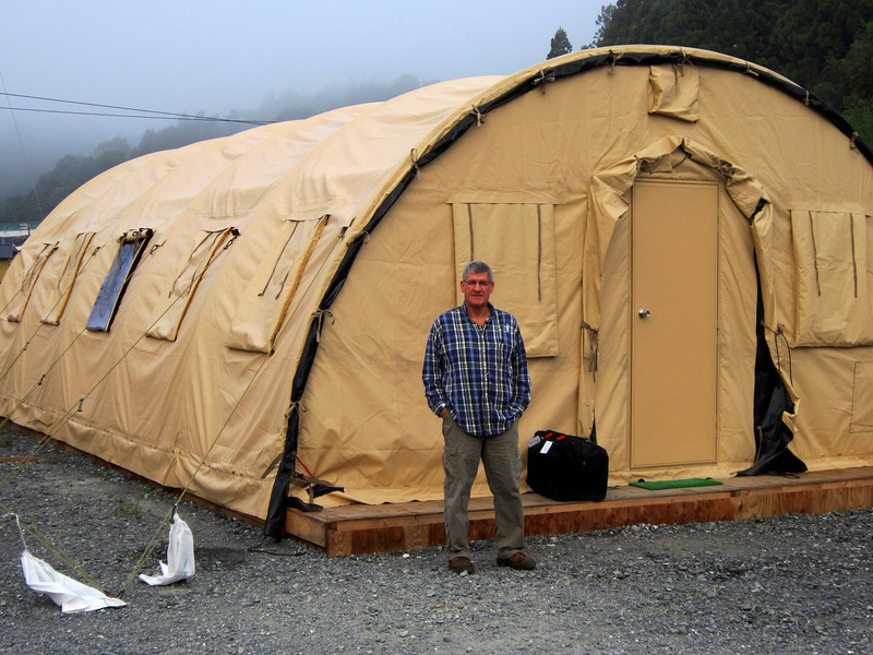 Photo By Bob Bodnar.......................John Corley outside our Tent