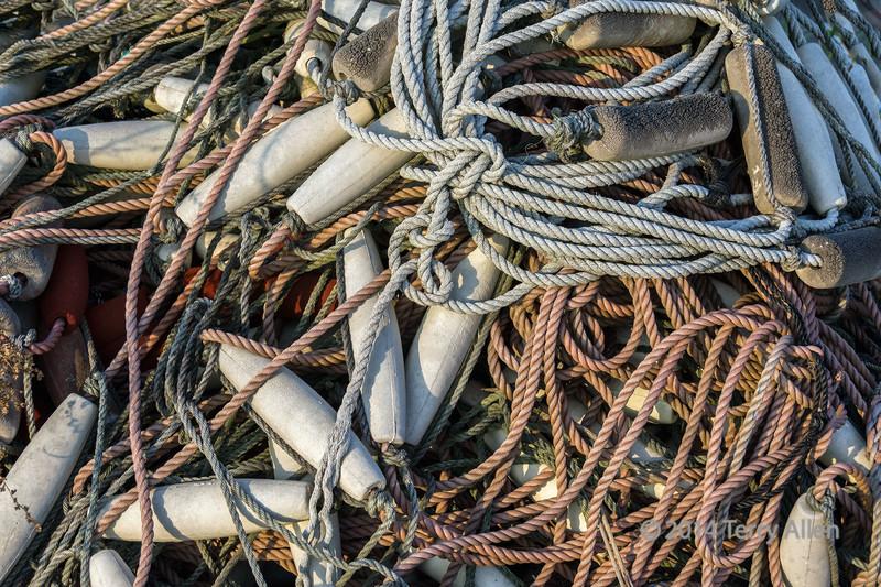 Pile of rope and floats, Naruto Harbour, Shikoku Island, Japan