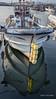 Fishing boat with reflection, Naruto Harbour, Shikoku Island, Japan