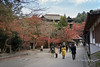 Local people enjoying the fall colours at Kiyomizu Dera Buddhist Temple, Otowa-san, Kyoto, Japan<br /> add keywords