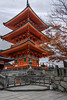 Three story pagoda, Kiyomizudera Buddhist temple, Kyoto, Japan