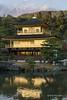 Golden-Pavilion-(Kinkaku-ji)-in-the-fall-with-reflections,-Rokuonji-complex,-Kyoto,-Japan