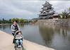 Matsumoto castle with moat and promenade, Nagano, Japan