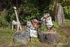 Kakashi zoo animals, Kamiyama, Shikoku Island, Japan