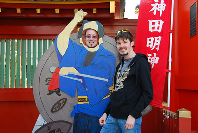 Brent and Brian at the Edo Shinto shrine in Tokyo (Iidebashi, if I recall correctly).