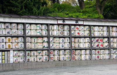 Sake barrels in Kamakura