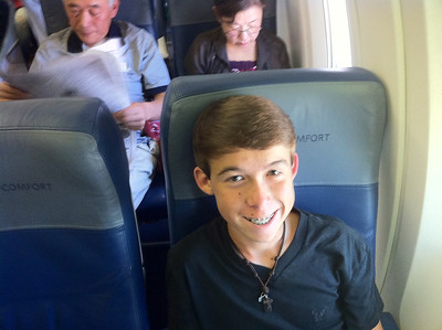 riding on the plane