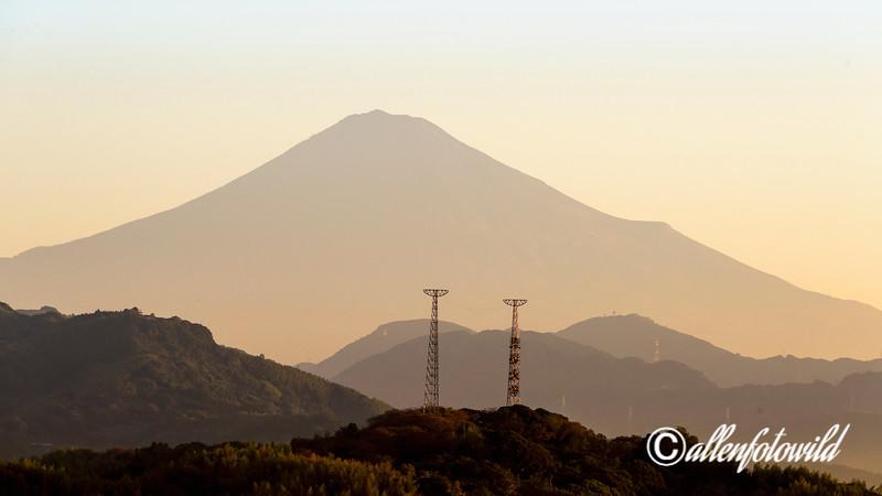 Mount Fuji at sunrise from Shizuoka, Japan