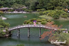 Ritsurin Garden in the late fall with Geishun-kyo Bridge, Takamatsu, Japan