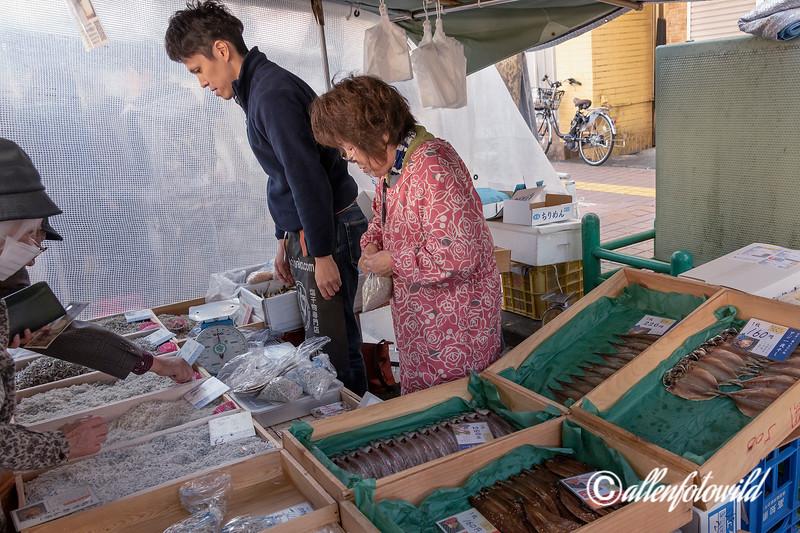 Whitebait  (katakuchi-iwashi, urume-iwashi, ma-iwashi) for sale, Sunday Market, Kochi, Japan