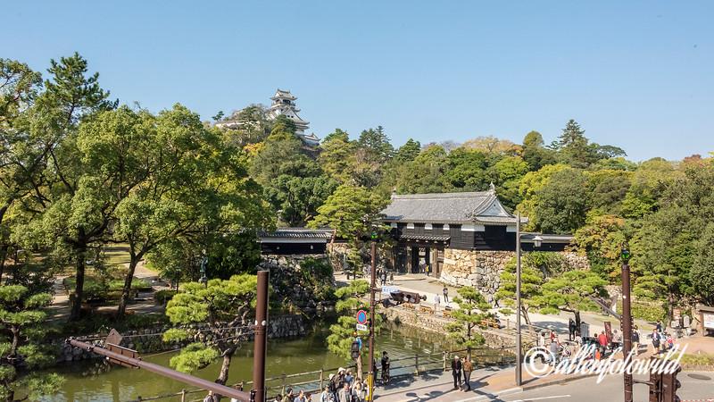 Kochi Castle with moat and ote-mon Gate, Kochi, Shikoku Island, Japan