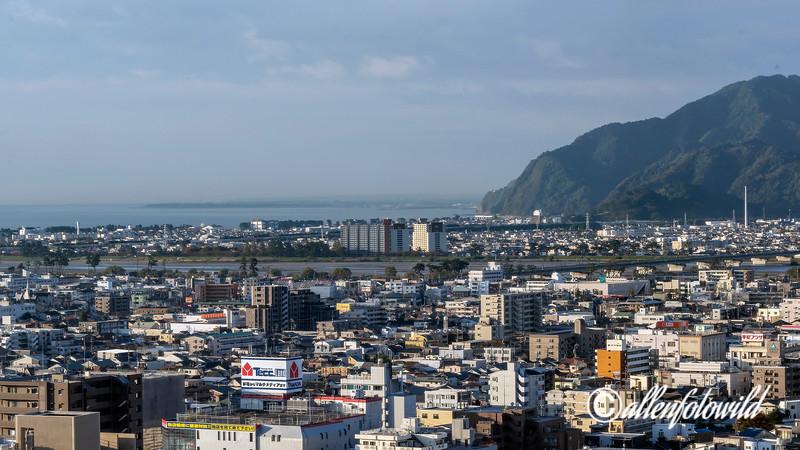Ooi River and Suruga Bay, Shizuoka, Japan
