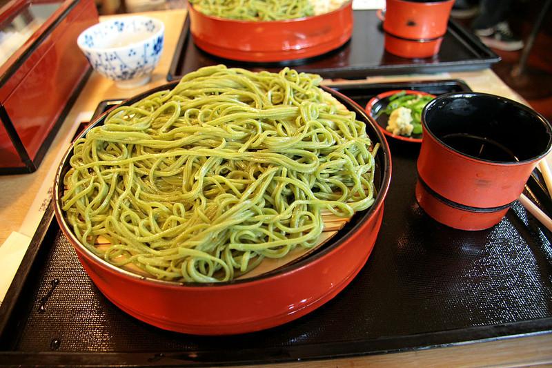Bowl of Green Tea Noodles
